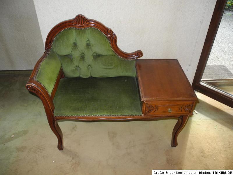 antike sitzbank gepolstert mit schublade massivholz hocker stuhl dekor ebay. Black Bedroom Furniture Sets. Home Design Ideas