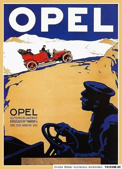 farb plakat opel puppchen 1913 ebay. Black Bedroom Furniture Sets. Home Design Ideas