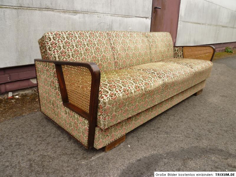 altes sofa klappsofa klappcouch daybed 50er 60er jahre ebay. Black Bedroom Furniture Sets. Home Design Ideas