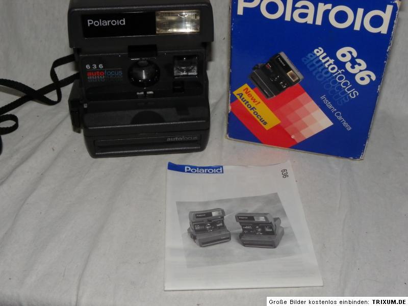 polaroid 636 autofocus camera anleitung ovp ebay. Black Bedroom Furniture Sets. Home Design Ideas