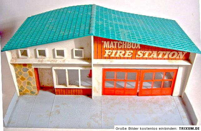 matchbox fire station mf 1 seltenes gr nes dach in box ebay. Black Bedroom Furniture Sets. Home Design Ideas