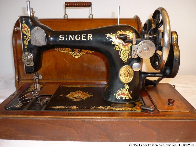 traumhaft sch ne antike singer koffer n hmaschine baujahr 1914 ebay. Black Bedroom Furniture Sets. Home Design Ideas