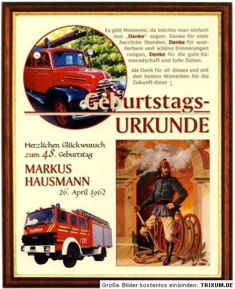Feuerwehr Spruche Geburtstag Directdrukken