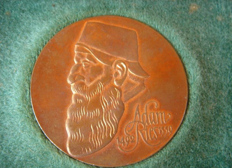 adam ries medaille aus annaberg buchholz erzgebirge ddr zeit 1959 mit schachtel ebay. Black Bedroom Furniture Sets. Home Design Ideas