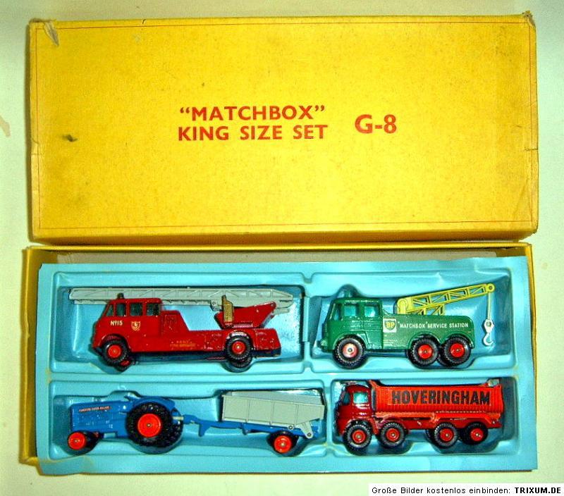 matchbox kingsize g 8 giftset usa 1966 rare gelbe box ebay. Black Bedroom Furniture Sets. Home Design Ideas